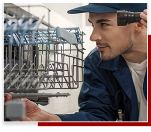 plumber in carson ca fixing a dishwasher