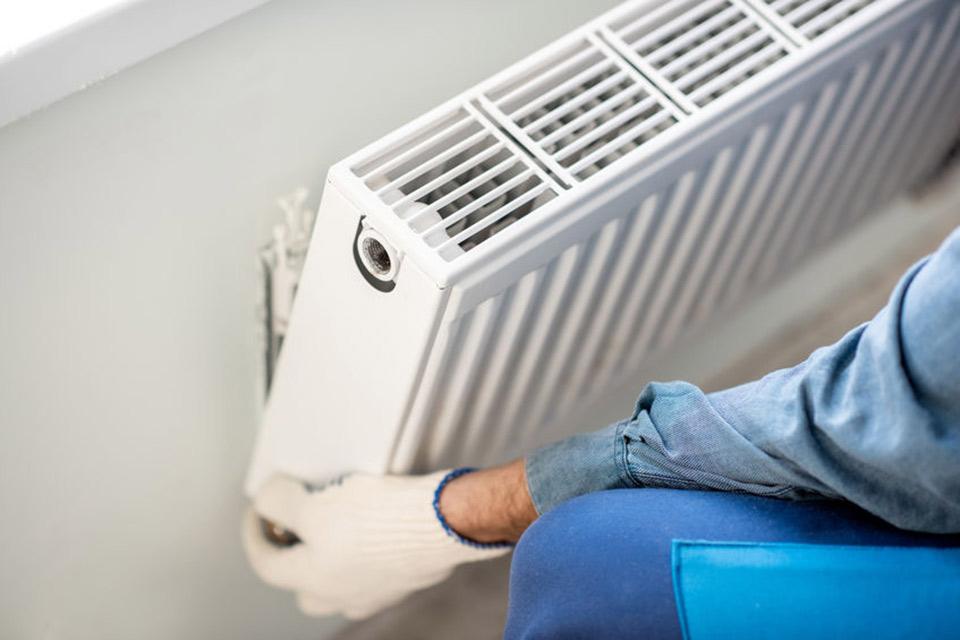 hvac technician installing heater in torrance, ca