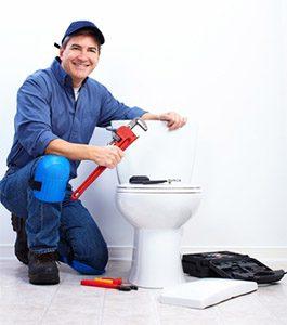 tech performing toilet repair in san pedro ca